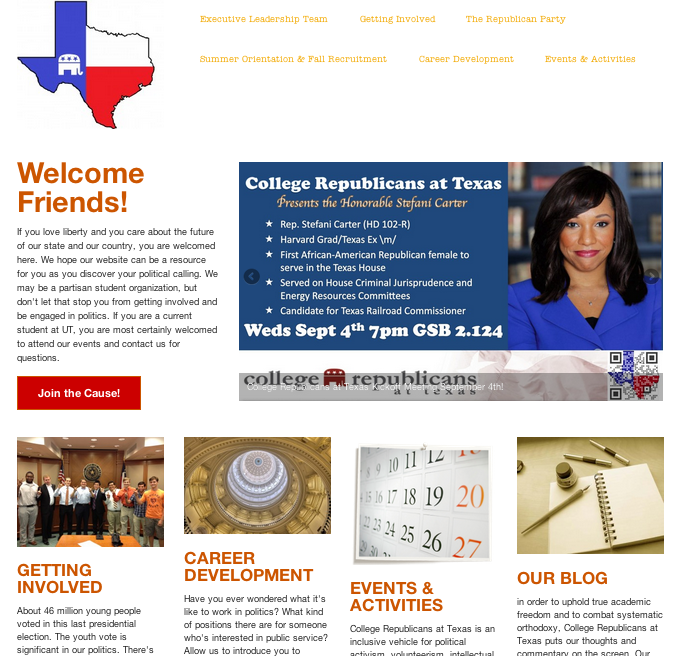 College Republicans at Texas Main Website